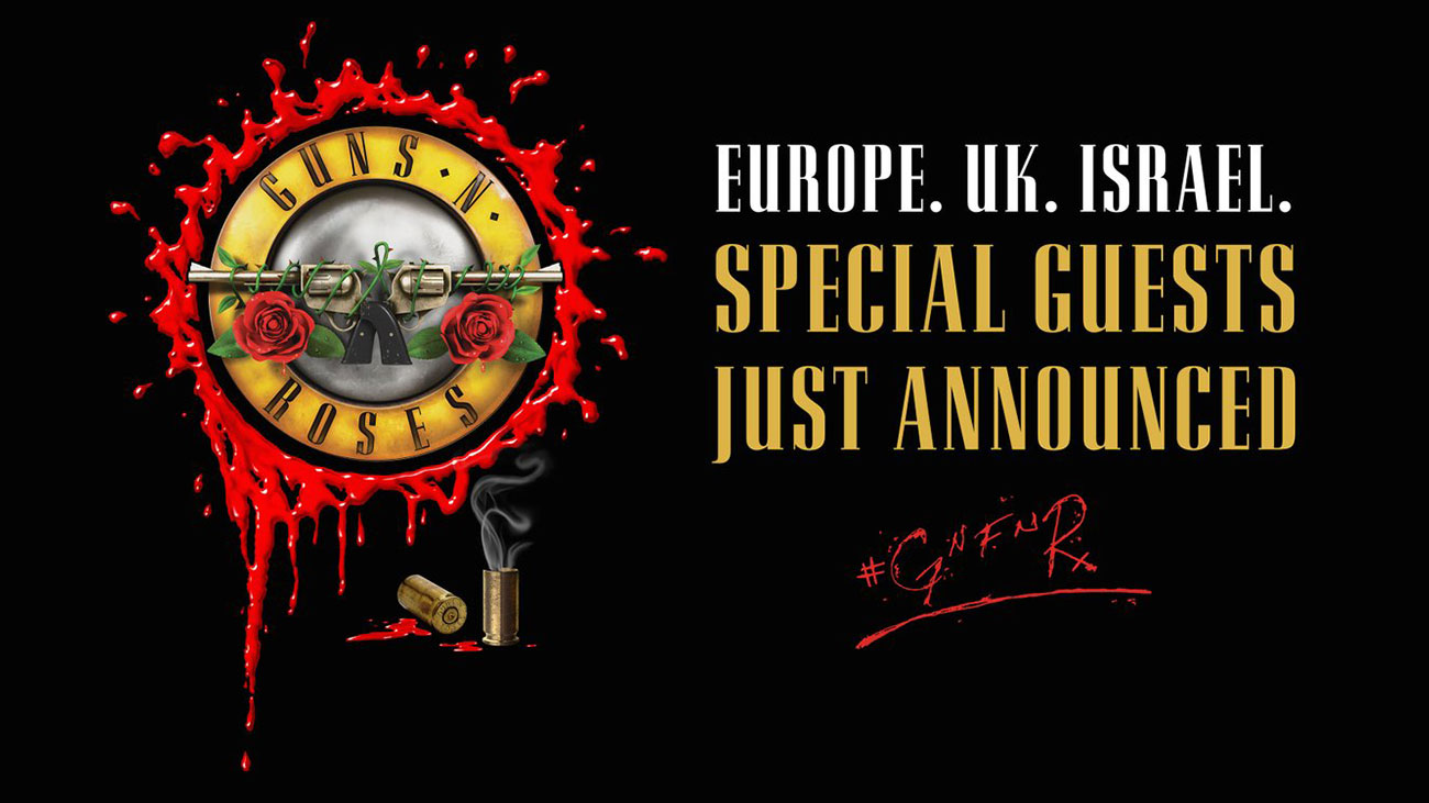 guns n 39 roses geben support acts f r die europa tour. Black Bedroom Furniture Sets. Home Design Ideas